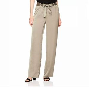 Ellen Tracy | Belted Wide Leg Trouser Green